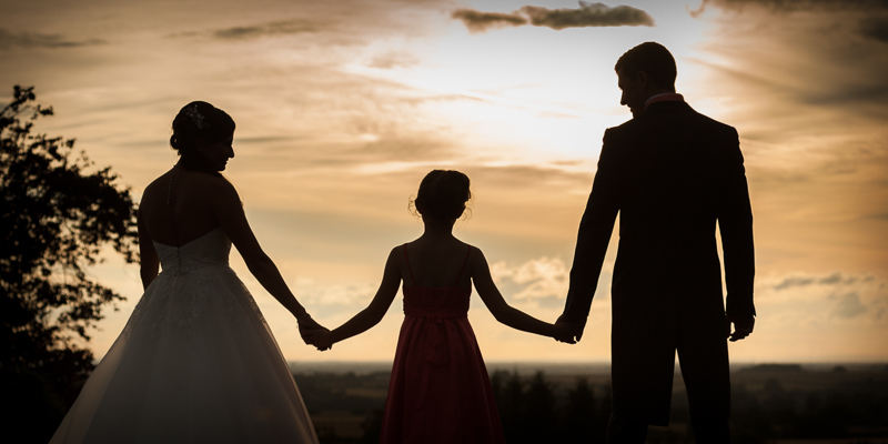 Family wedding photography at sunset  at Rudstone Walk South Cave